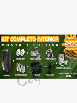 Armario de cultivo completo dark box light grow shop for Kit de cultivo de interior
