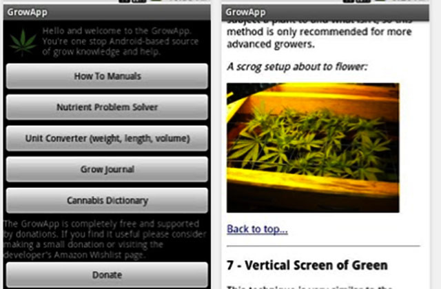 the grow apps de marihuana